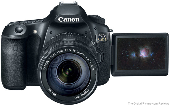 Canon EOS 60Da DSLR Astrophotography Camera LCD Open