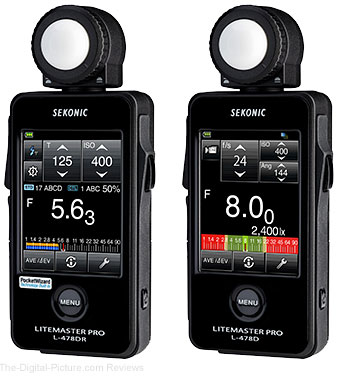 Sekonic Touch-Screen Litemaster Pro L-478DR & L-478D Light Meters
