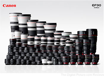 Canon Celebrates Production of 90 Million EF Interchangeable Lenses