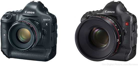Canon EOS 1D X and 1D C Cameras