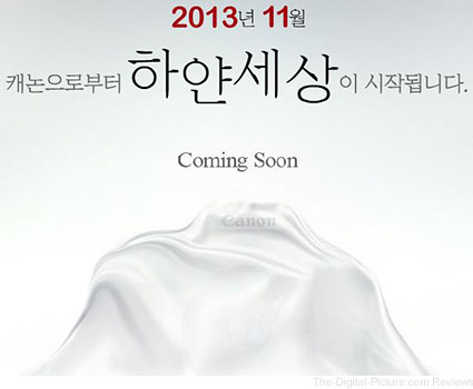 Canon Korea Hints at Upcoming Announcement?
