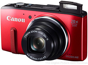 Canon Powershot SX280 Digital Camera (Red)