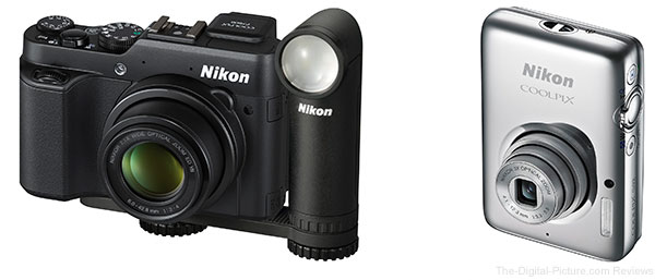 Nikon COOLPIX P7800, COOLPIX S02 & LD-1000 LED light