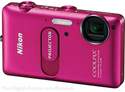 Nikon COOLPIX S1200pj (Pink) Digital Camera with Projector - $129.99 Shipped (Compare at $249.95)