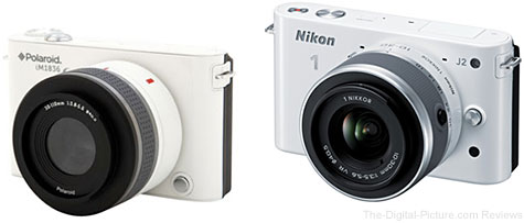 Polaroid iM1836 and Nikon 1 J2 Digital Cameras