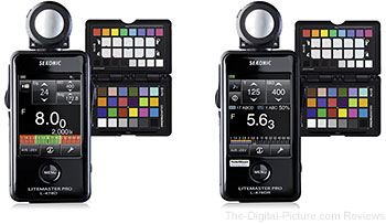 Sekonic Litemaster Pro L-478D & L-478DR Light Meter & X-Rite ColorChecker Passport Bundle