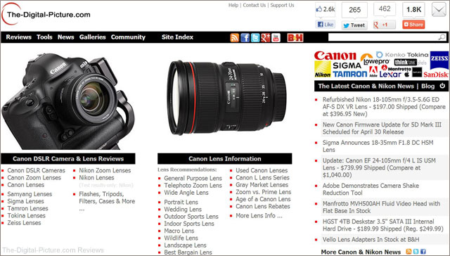 Introducing the New, more Useful, The-Digital-Picture.com Home Page