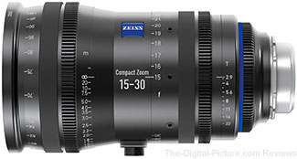 Zeiss Announces Compact Zoom CZ.2 15-30/T2.9 Lens