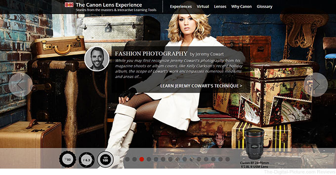 B&H Creates The Canon Lens Experience: Stories from the Masters & Interactive Learning Tools