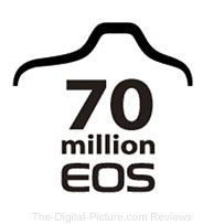 Canon 70 Million EOS Interchangeable Lens Cameras Logo