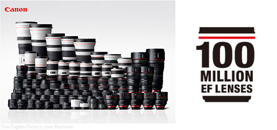 Canon EF 100 Million Lenses Logo