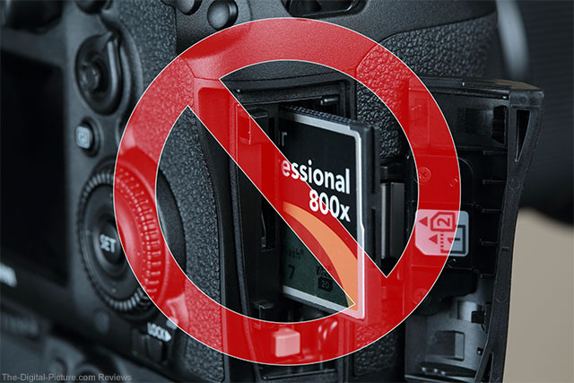 Canon EOS 7D Mark II with CompactFlash Memory Card Inserted Incorrectly
