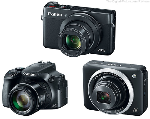 Canon PowerShot G7 X, SX60 HS and N2 Digital Cameras