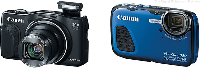 Canon Announces PowerShot SX700 HS & D30 Digital Cameras