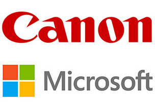 Canon and Microsoft Logos