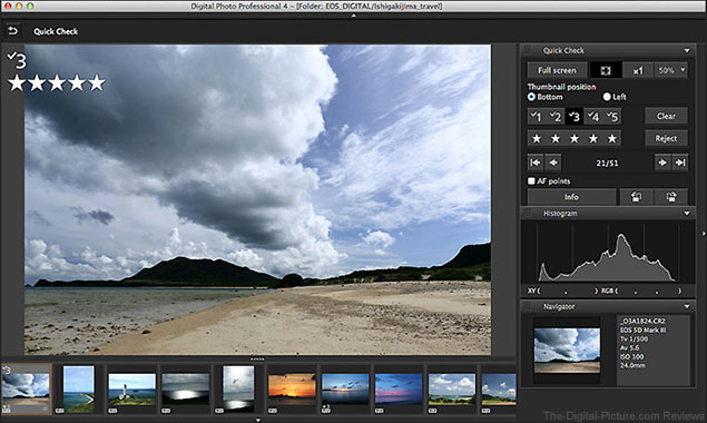 Canon Digital Photo Professional 4.0 Screenshot