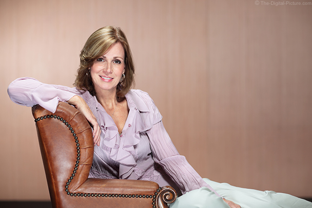 Kim Frick-Welker in the Lounge Chair