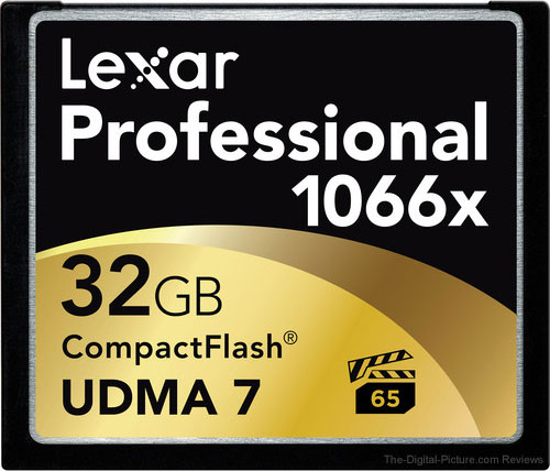 A Handful of Lexar Memory Cards Deals