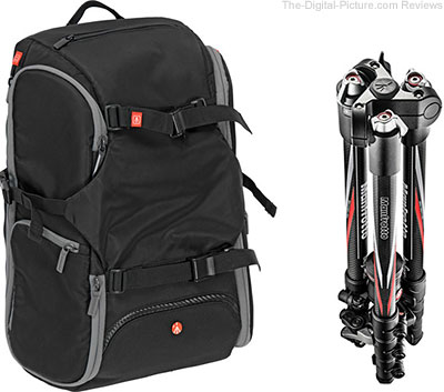 Manfrotto Advanced Travel Backpack and BeFree Compact Travel Carbon Fiber Tripod