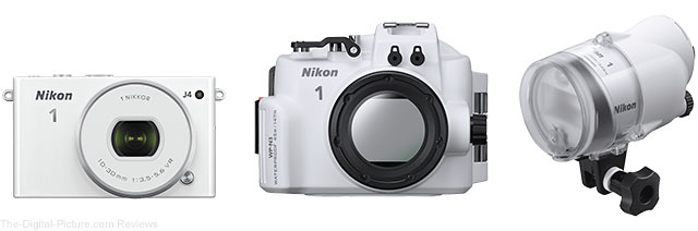 Nikon 1 J4 Mirrorless ILC with WP-N3 Waterproof Case and SB-N10 Underwater Speedlight