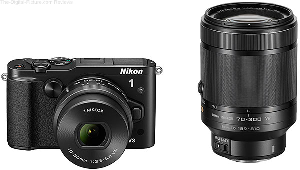 Nikon 1 V3 with 10-30mm PD-Zoom & 70-300mm VR Lenses