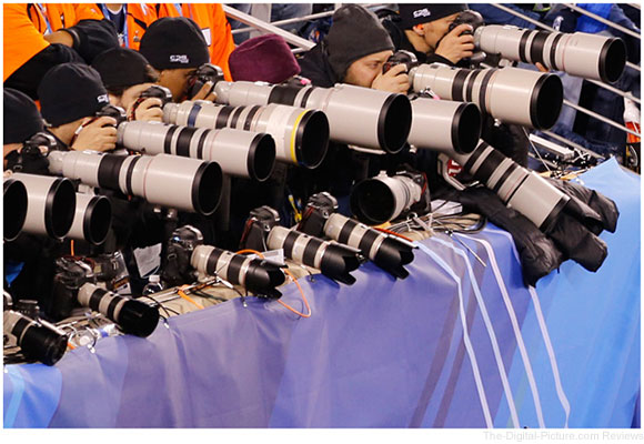 Photographers Using Canon Equipment at the 2014 Superbowl