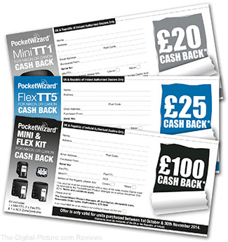 PocketWizard Cashback Promo Vouchers