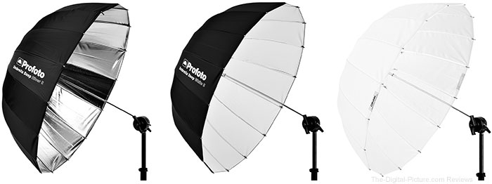 Profoto Adds to its Parabolic Umbrella Line