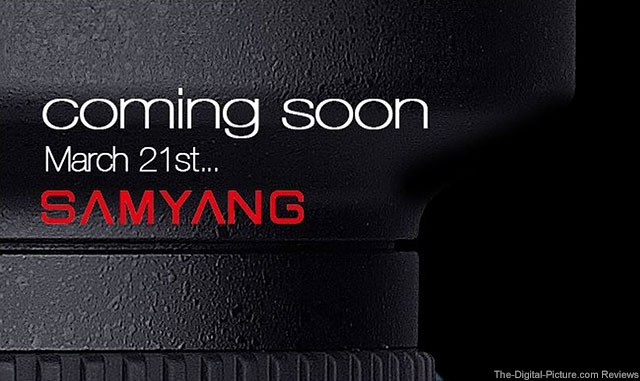 Samyang Notification of New Upcoming Products