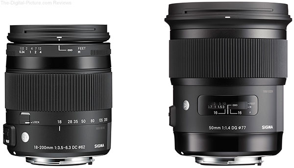 Sigma 18-200mm f/3.5-6.3 DC Macro OS HSM Contemporary Lens & 50mm f/1.4 DG HSM Art Lens