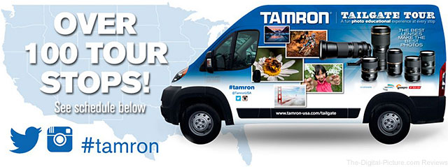 Tamron Announces 100-City National Tailgate Tour