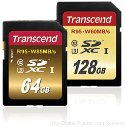 Transcend Launches SDXC/SDHC UHS-I Speed Class 3 Cards to Support 4K Video