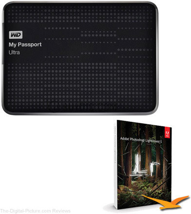 WD My Passport Ultra 2TB USB 3.0 Portable Hard Drive Plus Lightroom 5 Bundle