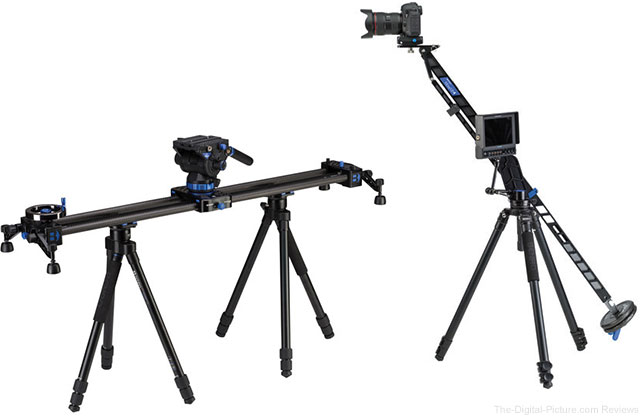 Benro MoveOver12 Slider Kit and MoveUp4 Jib