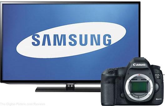 "Buy a 5D Mark III, get a Samsung 40"" LED TV for Free"