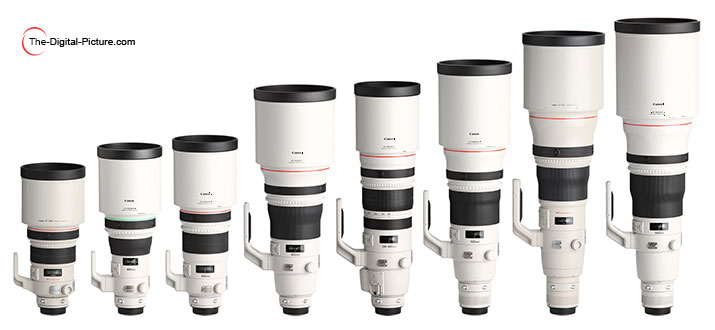 Spring 2015 Canon Big White L Lens Family Picture (with Hoods)