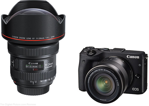 Canon EF 11-24mm f/4L USM and EOS M3 Mirrorless Camera