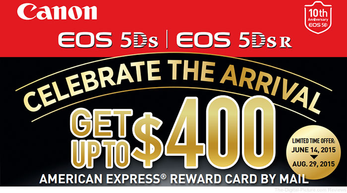 Canon EOS 5Ds / 5Ds R Double-Your-Rebate Promo