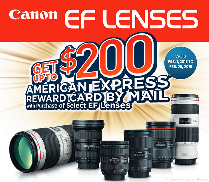 Canon Announces February 2015 Rebate Promotion