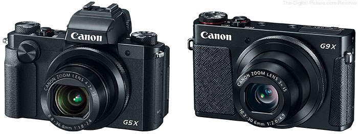 Canon Introduces PowerShot G5 X / G9 X with 1-Inch Sensors