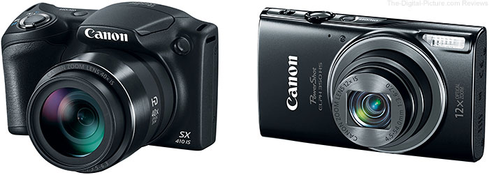 Canon PowerShot SX410 IS and ELPH 350 HS Digital Cameras