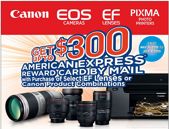 Canon Mail-In Rebates Logo May 31 - July 4, 2015