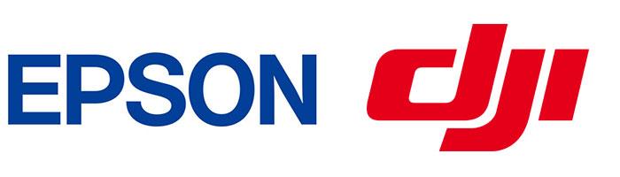 Epson and DJI Logos