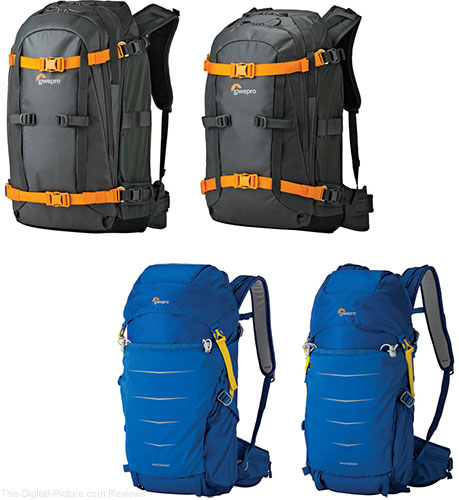 Lowepro Whistler and Photo Sport II AW Backpacks