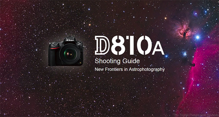 Nikon D810A Shooting Guide Front Page Image