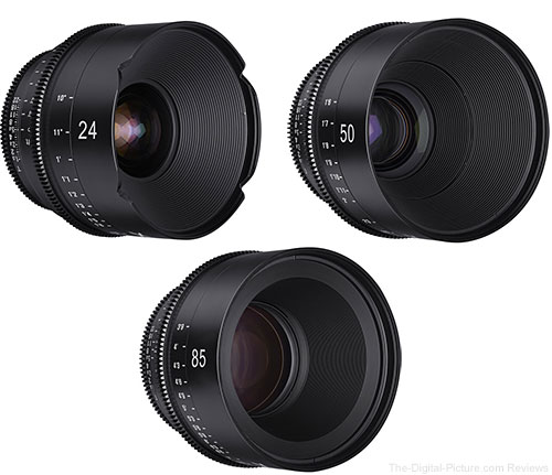 Rokinon 24/50/85mm XEEN Cinema Prime Lenses