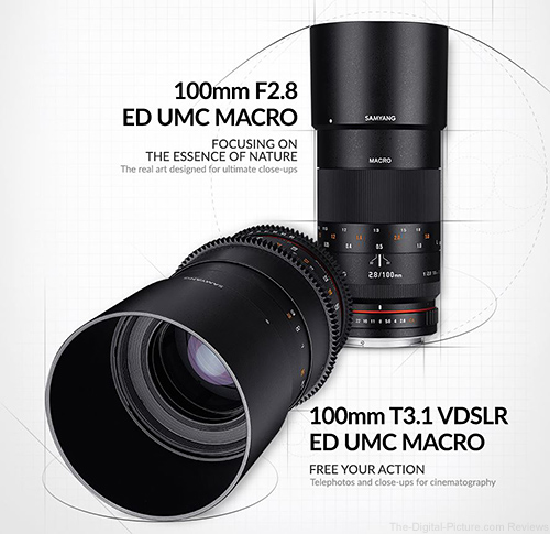 Samyang 100mm Macro Photo and Cine Lenses