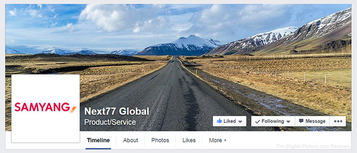 "Samyang Facebook Account Changes Name to ""Next77 Global"""