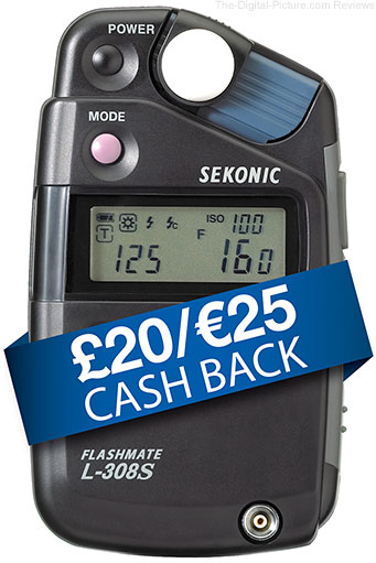 Sekonic L-308s Cash Back Promotion