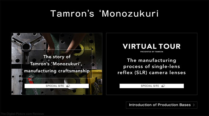 "See How Tamron Makes Lenses in ""Monozukuri"" Virtual Tours"